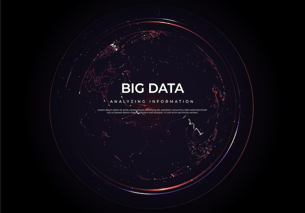 Big data of future technologies, computer generated abstract