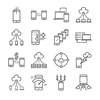 Big data icon set.