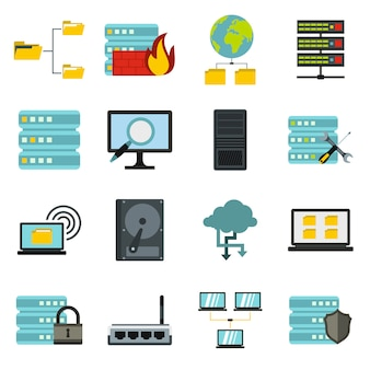 Big data icons set
