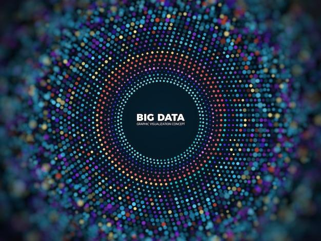 Big data information concept.