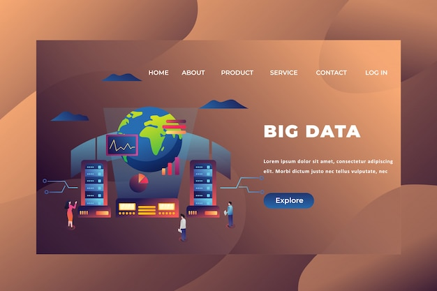 Big data landing page template