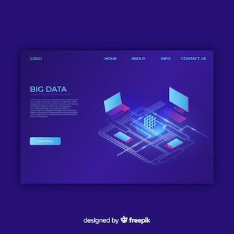 Big data landing page
