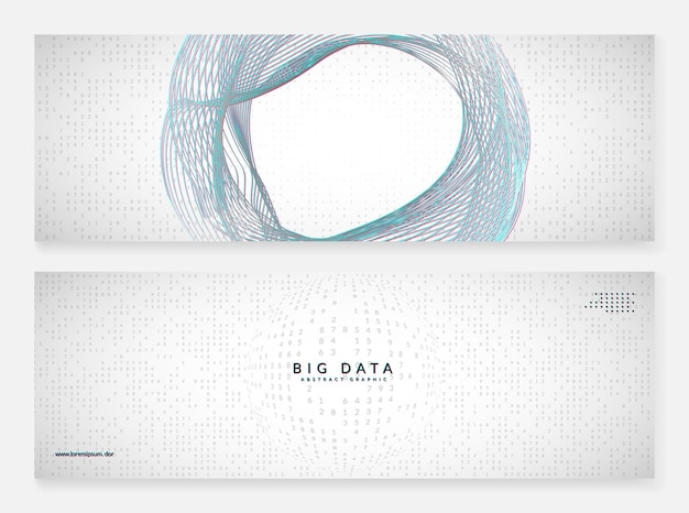 Big data learning. digital technology abstract background. artificial intelligence concept. tech visual for connection template. neural big data learning backdrop.
