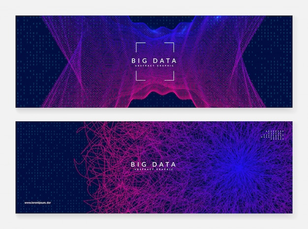 Big data learning. digital technology abstract
