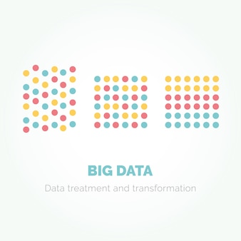 Big data minimalistic infographics design