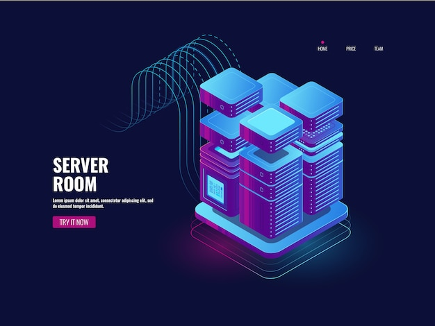Big data processing, blockchain technology, token access system, server room