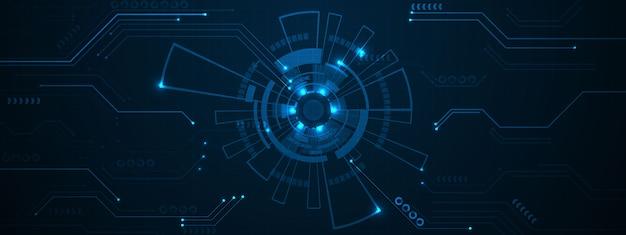 Большой фон технологии данных. сеть частиц mist cyber security