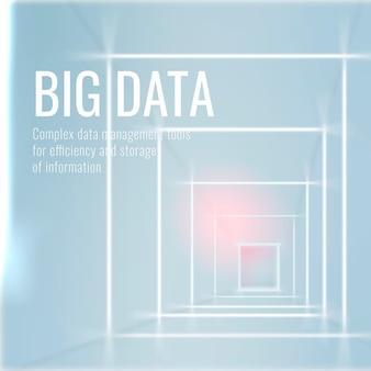 Modello di tecnologia big data per post sui social media in tonalità azzurro