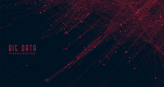 Big data visualization concept background