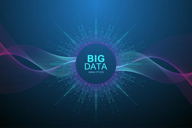 Big data visualization concept