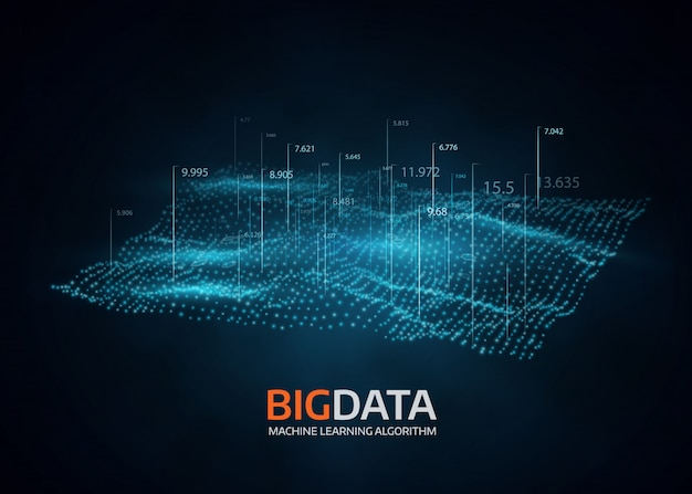 Big data visualization. futuristic vector background.