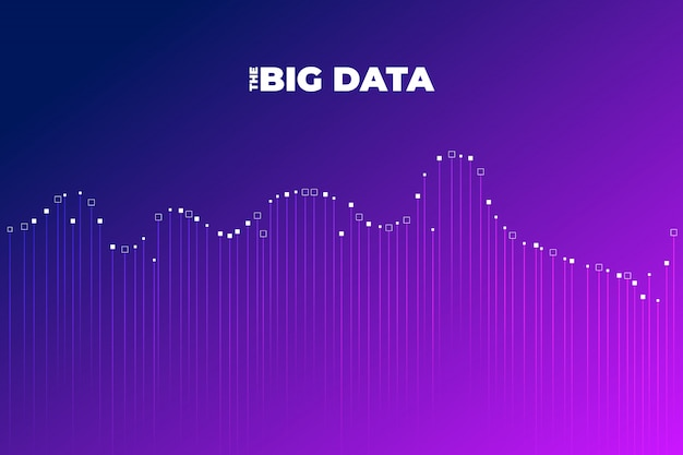 Big data visualization. visual data complexity analytics. concept  infographic. information line graphic representation. abstract data graph.  illustration