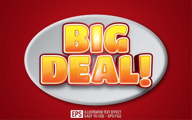 Big deal 3d text editable style effect