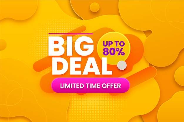 Big deal background with discount