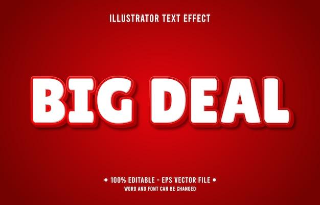 큰 거래 편집 가능한 텍스트 효과 현대 온라인 상점 스타일