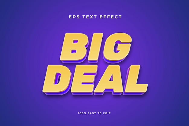 Big deal gold purple text effect