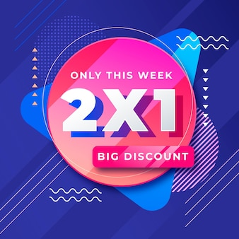 Big discount offer promo banner
