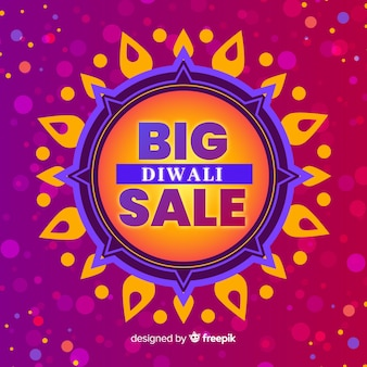 Big diwali sale offer flat design