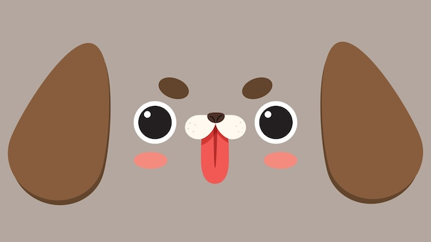 Big dog face wallpaper.