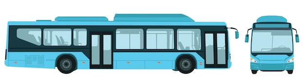 Big electric city bus