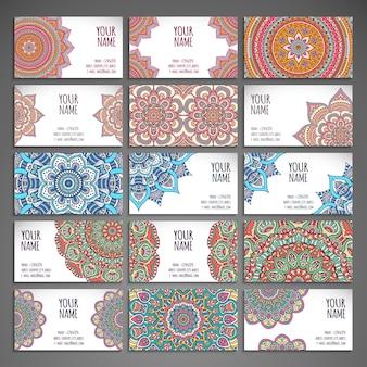 Big ethnic mandala cards collection