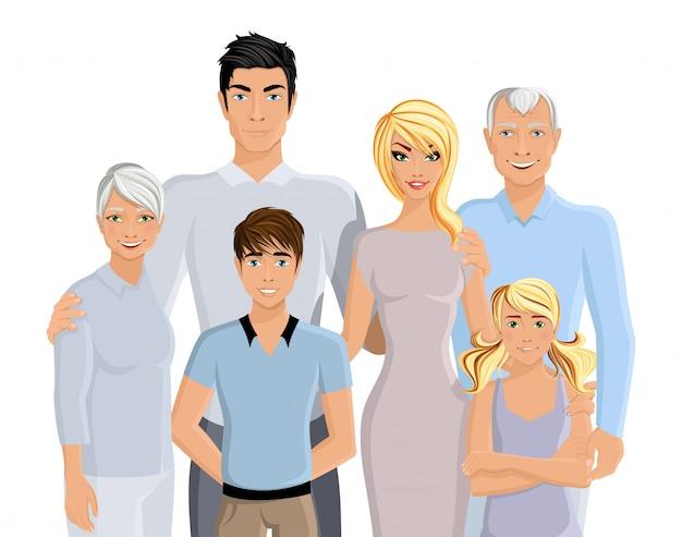 大家族の肖像画