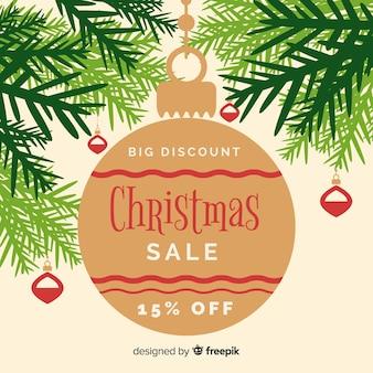 Big flat ball christmas sale background