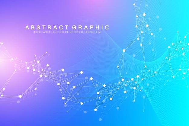 Визуализация больших геномных данных. спираль днк, нить днк, днк-тест. молекула или атом, нейроны.