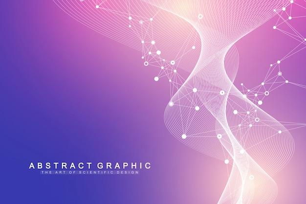 Big genomic data visualization dna strand