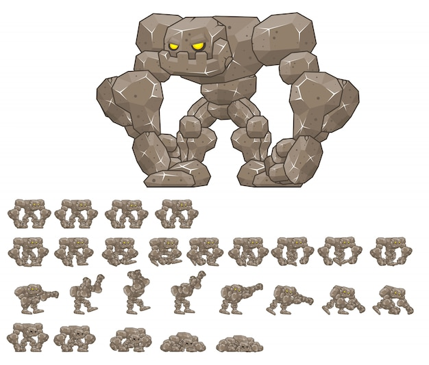 Big golem game sprite
