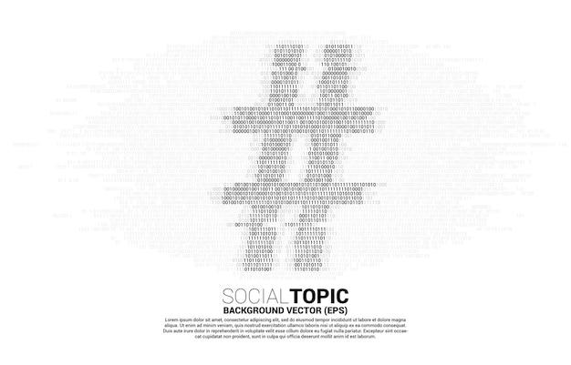 소셜 미디어 주제 및 뉴스에 대한 하나의 제로 코드 바이너리 개념의 빅 해시 태그입니다.