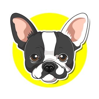 Big head dog cartoon