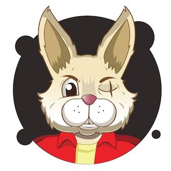 Big head rabbit avatar