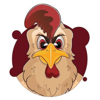 Big head rooster avatar