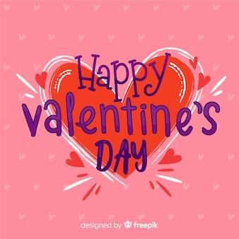 Big heart valentine's day background