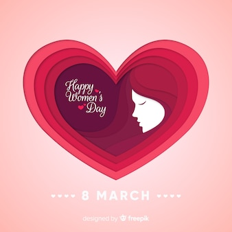 Big heart women's day background