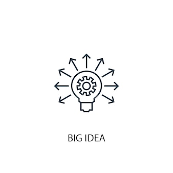 Big idea concept line icon. simple element illustration. big idea concept outline symbol design. can be used for web and mobile ui/ux