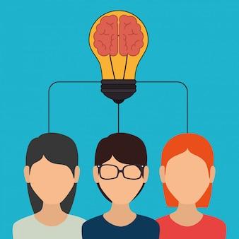 Big idea, creative and intelligence