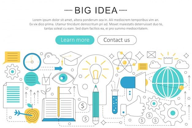 Big idea flat line concept