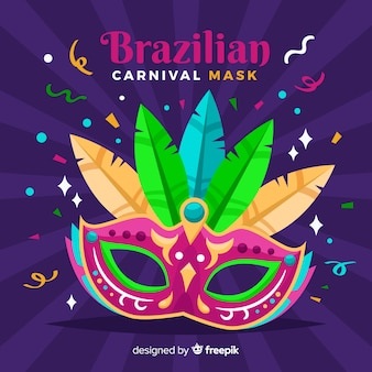 Big mask brazilian carnival background