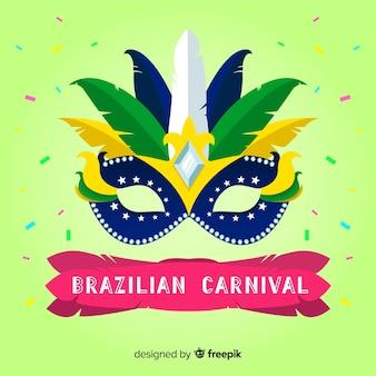 Big mask brazilian carnival background