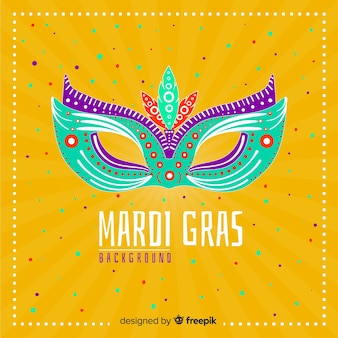 Big mask mardi grass background