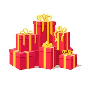 Большая куча подарочной коробки