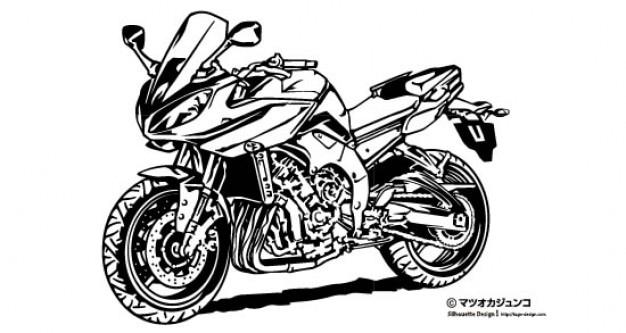 Big race motorbike