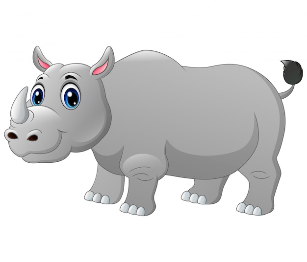A big rhino cartoon
