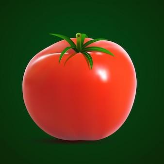 Big ripe red tomato.