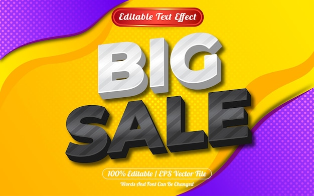 Big sale 3d editable text effect abstract background