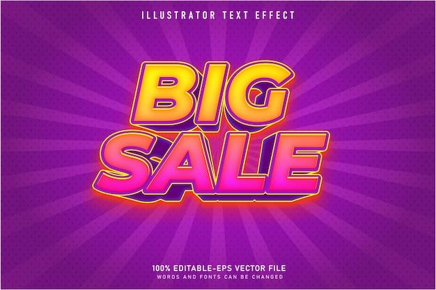 큰 판매 3d 편집 가능한 텍스트 스타일 효과
