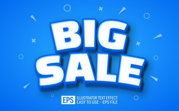 Big sale 3d text editable style effect template