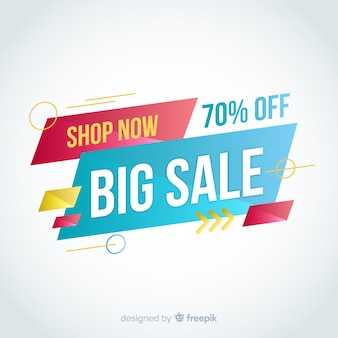 Big sale abstract banner